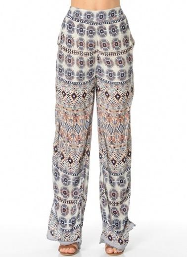 Vero Moda Pantolon | Yüksek Bel Loose Beyaz